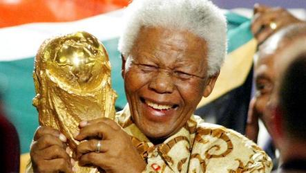 Brenda Irving recalls watching Nelson Mandela at the 2010 World Cup in South Africa.