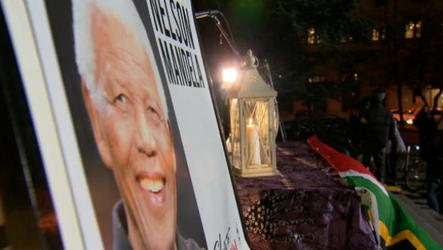 Nelson Mandela was said to have particular affection for Canada, and vigils for him took place across the country