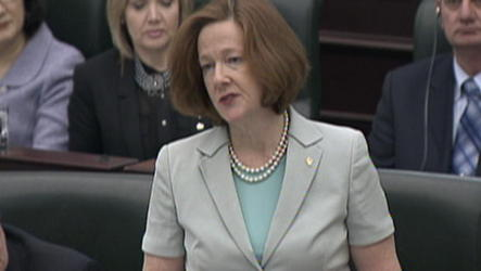 A review by Alberta's auditor general finds 'false passengers' were booked on at least a dozen government flights for former premier Alison Redford