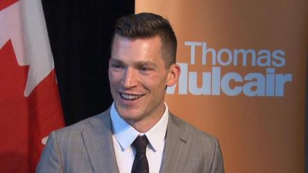 Edmonton NHLer Andrew Ference tells reporters why he's interested in politics and how he balances his environmental conc