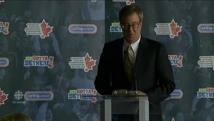 Ottawa Mayor Jim Watson announces the 2016 Canadian men's curling championships are coming.