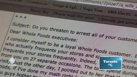 A shopper said a security guard attempted to 'arrest' her at a Whole Foods store.