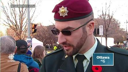 Franck Gervais, 32, has pleaded guilty to illegally wearing a military uniform and medals during the 2014 Remembrance Day ceremony in Ottawa at the National War Memorial.