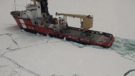 Icebreakers arrive to help open the entrances to the Thunder Bay, Ont., harbour