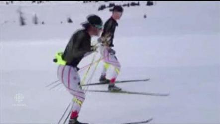 High in the Rocky Mountains, Canada's best cross-country skiers continue to train, as long as the conditions permit.