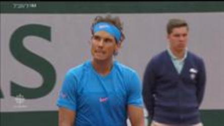 Rafael Nadal defeats Quentin Halys 6-3, 6-3, 6-4 in the first round of the French Open