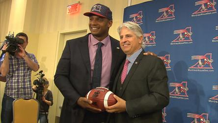 Openly gay football player Michael Sam has arrived in Montreal to play for the Alouettes. Douglas Gelevan reports...