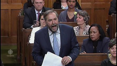 "Tom Mulcair, Stephen Harper and Justin Trudeau square off over plans for the CPP. NDP says the Harper government has had a ""death bed conversion"" by considering voluntary CPP contributions."