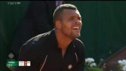Local favourite Wilfred Tsonga defeats Isreal's Dudi Sela 6-4, 6-1, 6-1