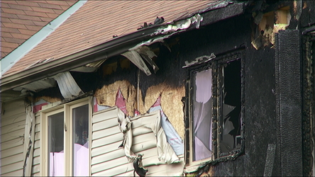 A fire ripped through a three-storey townhouse unit on Wednesday morning.