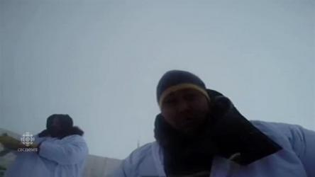 Inupiat whale hunters throw a video camera in the Beaufort Sea, capture bearded seal song.