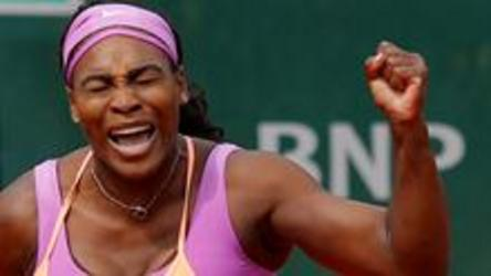 Top ranked Serena Williams defeats German Anna-Lena Friedsam 5-7, 6-3, 6-3 at the French Open in Paris.