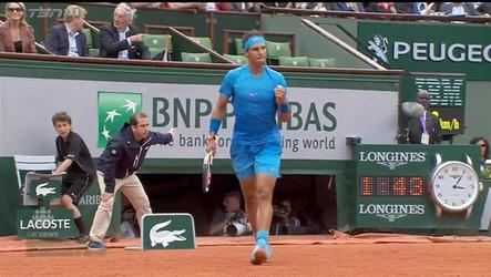 Spainiard Rafael Nadal defeats countryman Nicolas Almagro 6-4, 6-3, 6-1 in French Open.