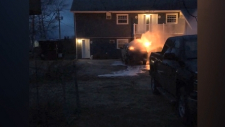 RCMP investigating a vehicle fire in Happy Valley-Goose Bay.